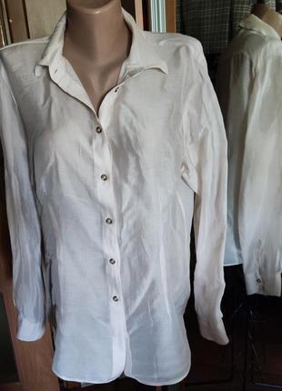 Базовая блуза с шелком нежно- пудрового цвета отmassimo dutti, 38