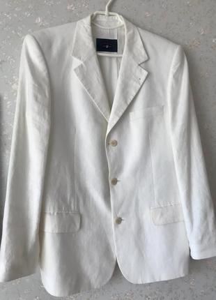 Льняной мужской пиджак u.s.polo (оригинал)