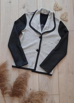 Silverapple стильний сірий піджак кардіган весна осінь xs-s