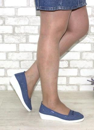 Джинсовые летние туфли