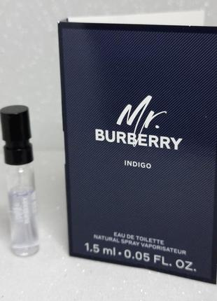 Burberry mr. burberry indigo туалетная вода пробник