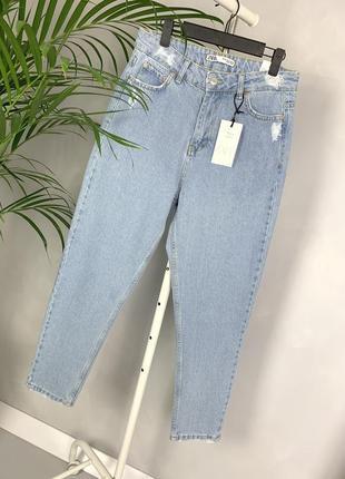 🌿 мом джинсы zara.джинсы мом баталы момы высокая посадка mom fit jeans zara.