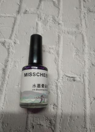 Акварельные капли для ногтей маникюра 15мл фиолетовый цвет