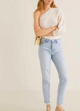 Красивые светлые джинсы mango