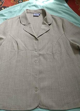 Фирменная винтажная блуза по лён большой размер 50-52