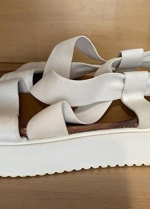 Кожаные сандалии, босоножки на платформе4 фото