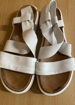 Кожаные сандалии, босоножки на платформе3 фото