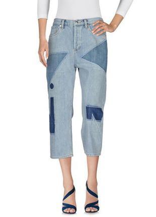 Укороченные джинсы в стиле пэчворк marc by jacobs