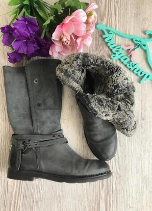 Удобные зимние кожаные сапоги бренд mjus