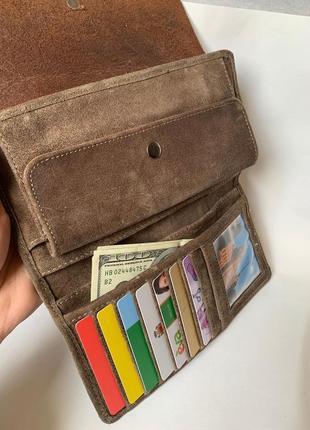 Мужской бумажник, мужской портмоне, кожаный бумажник немецкой фирмы land leder