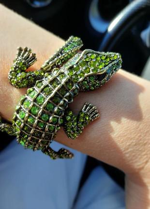 Браслет в форме крокодильчика