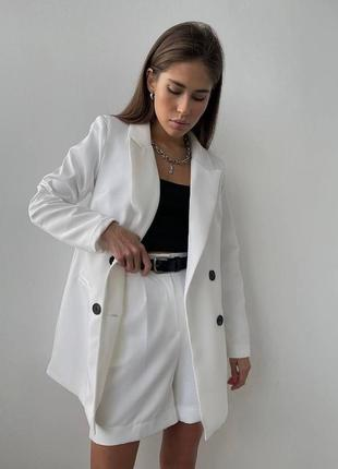 Костюм пиджак oversize + шорты