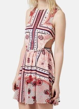 Распродажа!!! актуальное летнее платье в принт №322 topshop