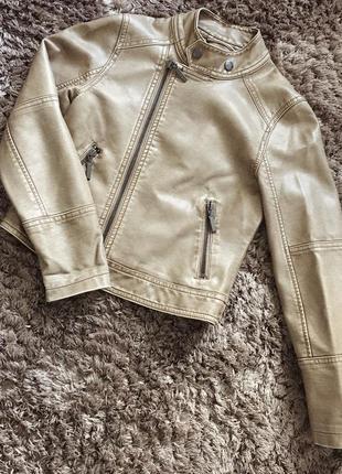Кожанка косуха кожаная куртка детская