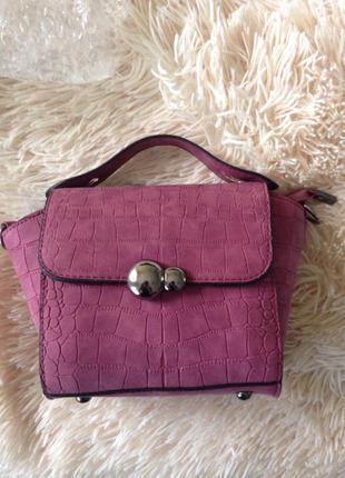 Новая сумка цвет марсала