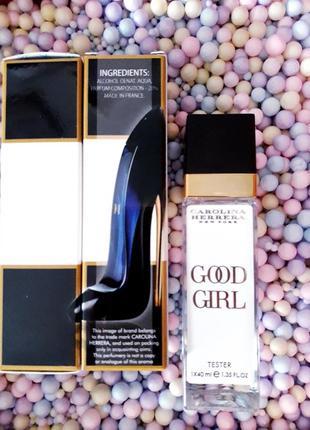 Good girl тестер 40мл, женские духи, парфюм, туалетная вода, парфуми