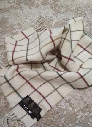 Брендовый шарф шерсть barbour