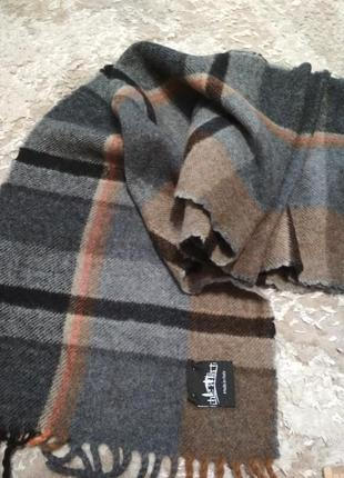Мужской шарф серый, коричневый, черный