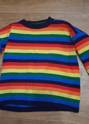 Радужный свитер. женский.