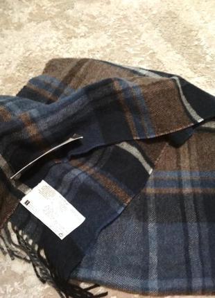 Мужской брендовый шарф новый шерсть