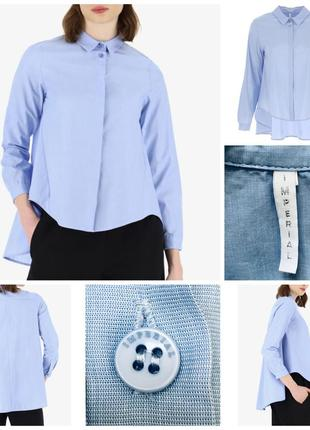 Крутая стильная оверсайз хлопковая рубашка итальянского бренда imperial m/38/46