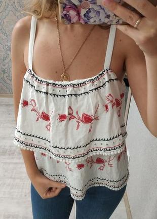 Стильная нежная блуза с рюшами