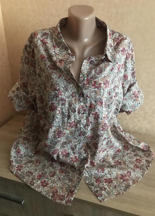 Большой выбор блуз рубашек / невесомая хлопковая рубашечка р 50-52