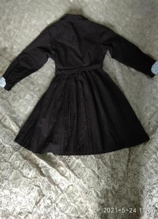 Школьное классическое платье для последнего звонка