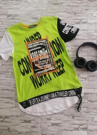 Яркая летняя футболка на мальчика, 122-158 см