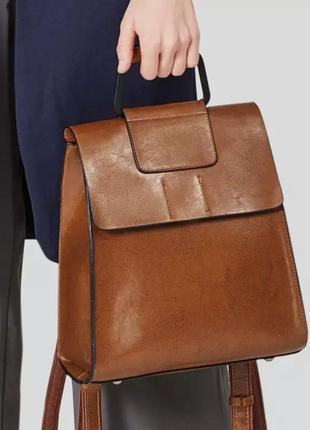 Сумка-рюкзак трансформер натуральная кожа