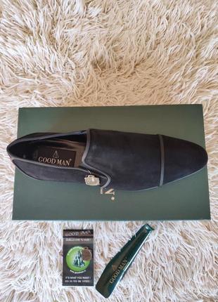 Замшевые стильные мужские туфли, италия.