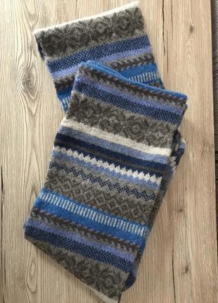 Шотландский стильный шерстяной шарф, унисекс