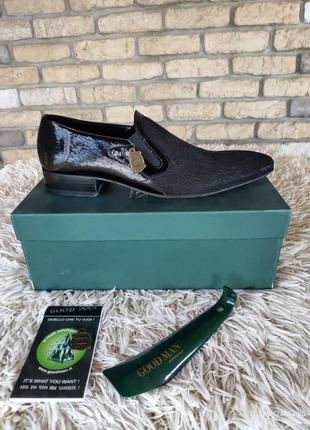 Супер элегантные мужские туфли, италия