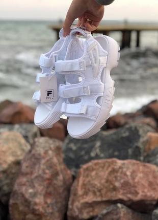 Женские босоножки сандали fila white