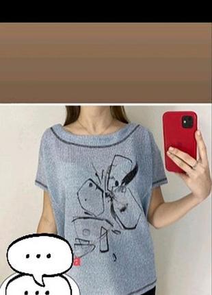 Блуза футболка туника