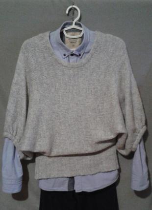 Стильный свитер реглан оверсайз