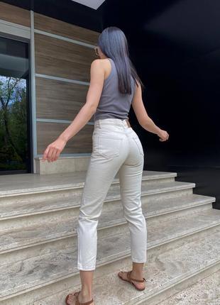 Джинсы мом нюдовые джинсы штаны момы