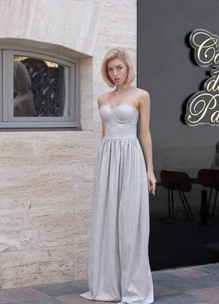 Роскошное платье в пол с чашками