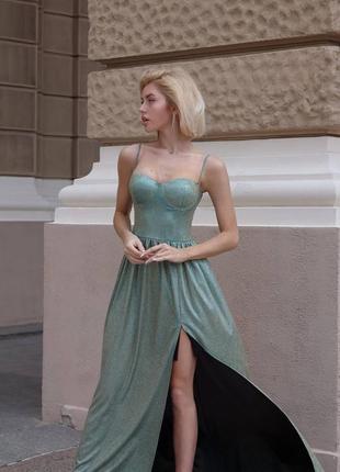 Роскошное вечернее длинное платье