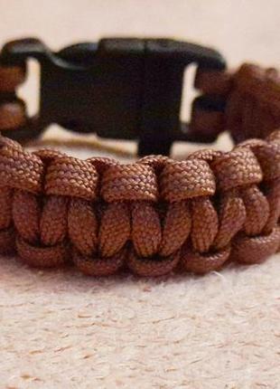 Коричневый браслет , мужской браслет , браслет из паракорда