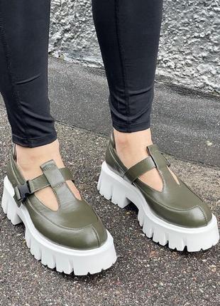 Эксклюзивные кожаные летние ботинки ручной работы