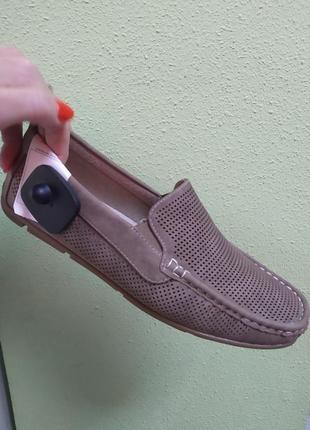 Мужские туфли перфорация лето весна