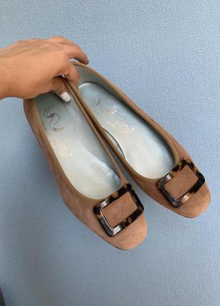 Замшевые и кожаные итальянские туфли molly