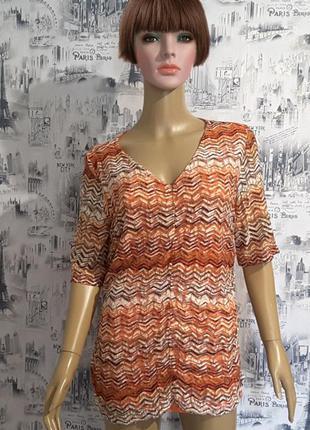 Эффектная блуза s. oliver uk16, xxl