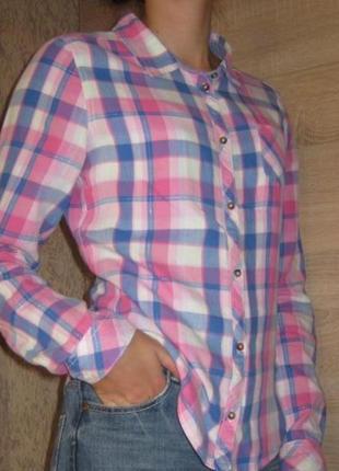 Классная рубашку в клетку h&m