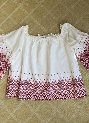 Блузка, хлопок, шитьё