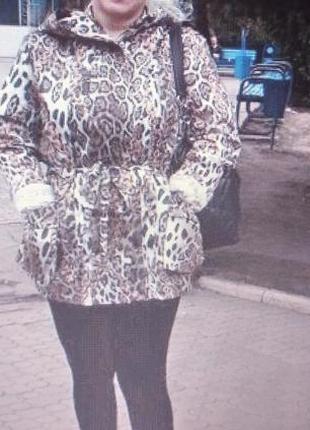 Красивая леопардовая куртка