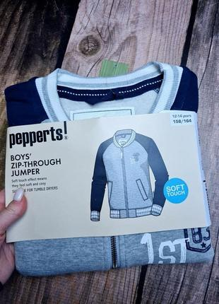Бомбер для мальчика свитшот с начесом pepperts 158/164 см