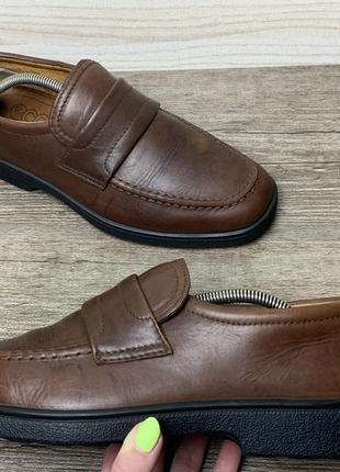 Туфли лоферы мокасины ecco мужские кожаные 44 original