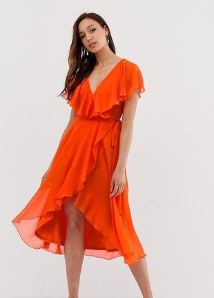 Платье asos на запах размер 14/xl/42
